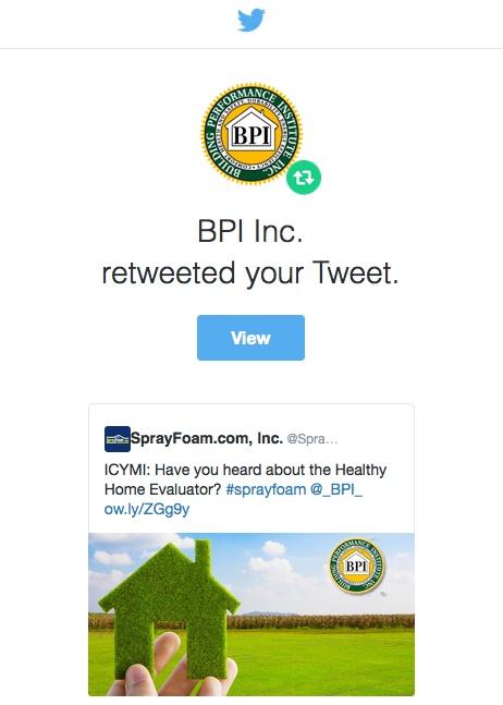 BPI retweeted SprayFoam.com