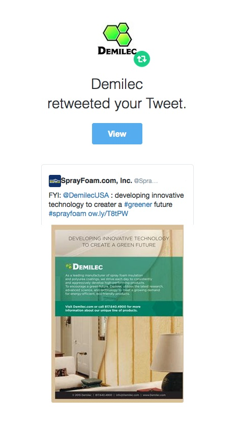 Demilec retweeted SprayFoam.com