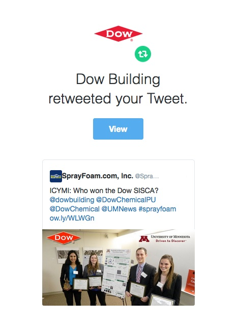Dow retweeted SprayFoam.com