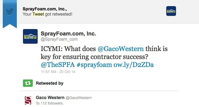 Gaco Western retweeted SprayFoam.com