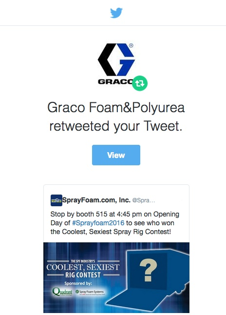 Graco retweeted SprayFoam.com