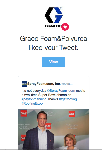 Graco retweeted SprayFoam.com