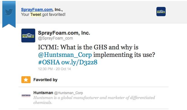 Huntsman retweeted SprayFoam.com