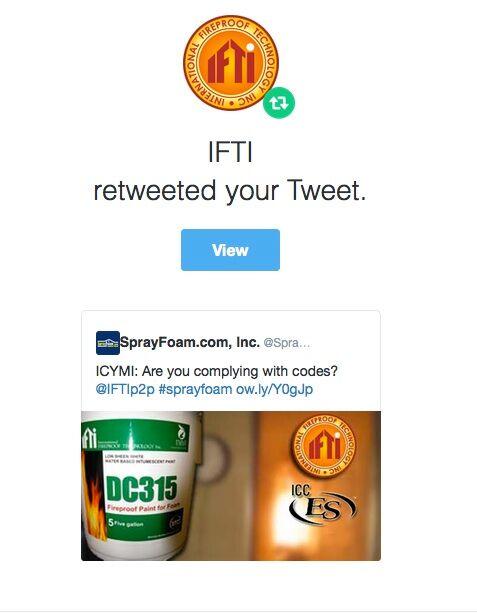 IFTI retweeted SprayFoam.com