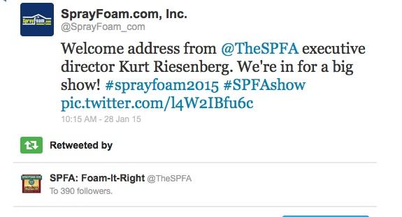 SPFA retweed SprayFoam.com