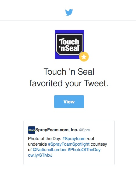 Touch 'n Seal favorited SprayFoam.com