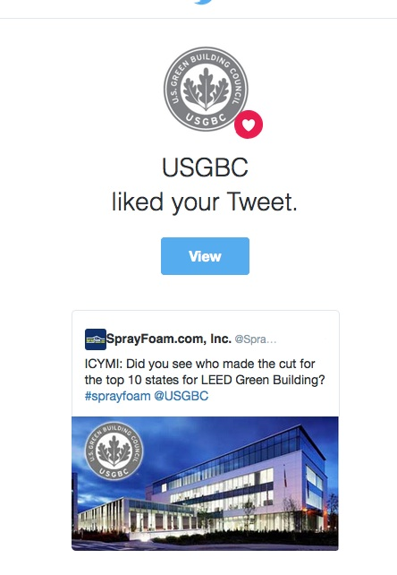 USGBC liked SprayFoam.com