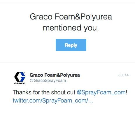 Graco mentioned SprayFoam.com