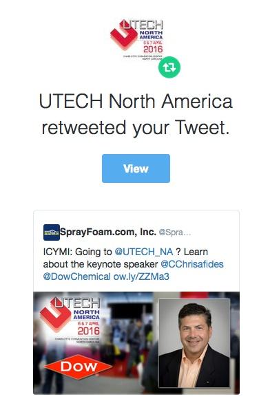 UTECH retweeted SprayFoam.com