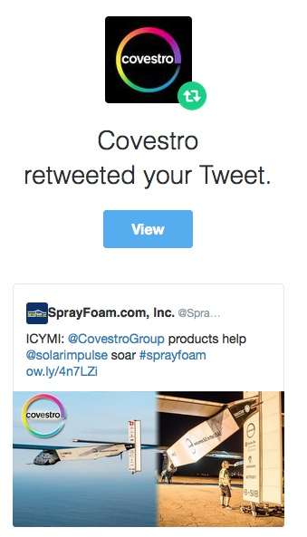 Covestro retweeted SprayFoam.com