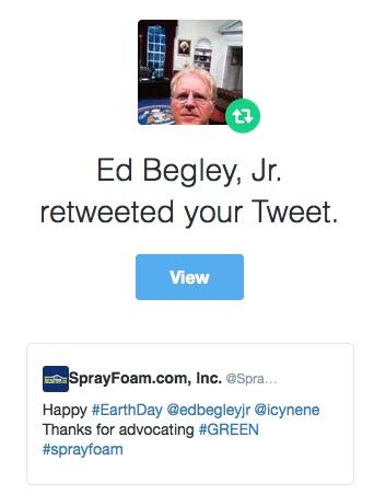 Ed Begley Jr. retweeted SprayFoam.com