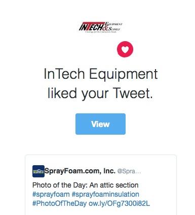 InTech Equipment liked a SprayFoam.com tweet.