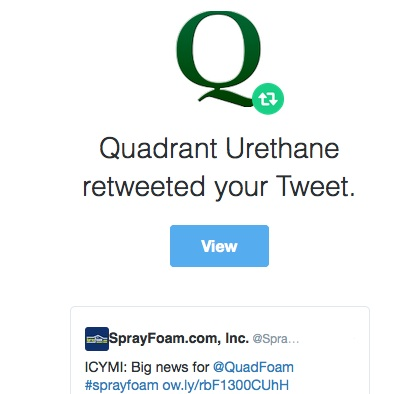 Quadrant Urethane retweeted SprayFoam.com