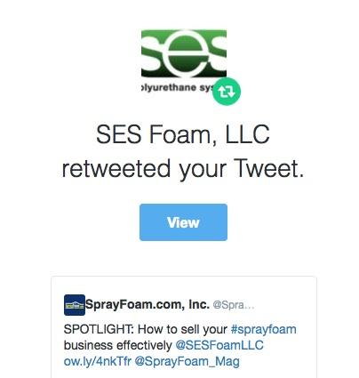 SES Foam retweeted SprayFoam.com
