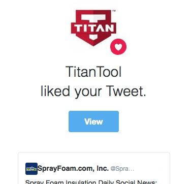 Titan Tool liked a SprayFoam.com tweet.