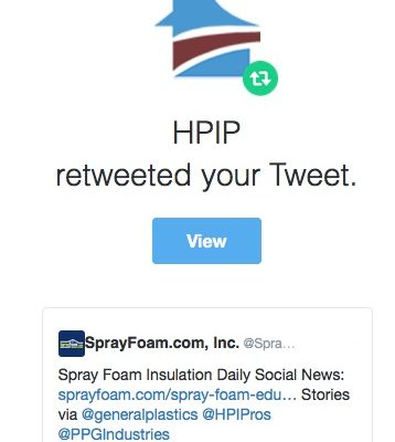 HPIP retweeted SprayFoam.com