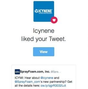 Icynene liked a SprayFoam.com tweet.
