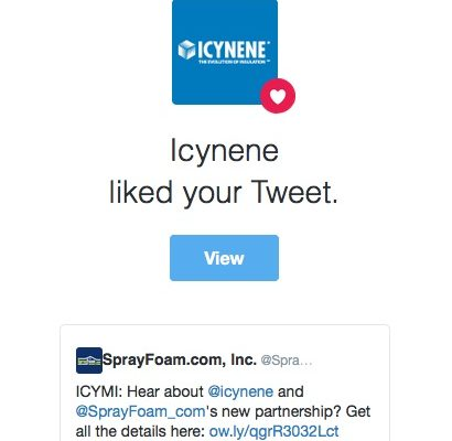 Icynene liked a SprayFoam.com tweet.