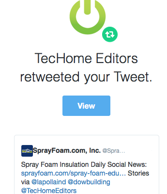 TecHome Editors retweeted SprayFoam.com