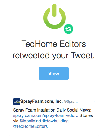TecHome Editors retweeted SprayFoam.com