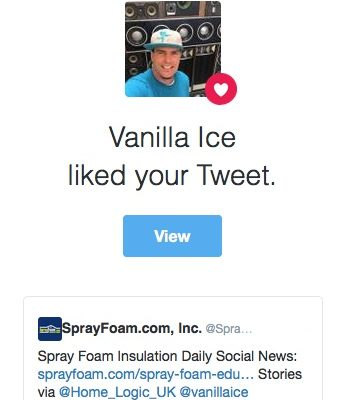 Vanilla Ice liked SprayFoam.com