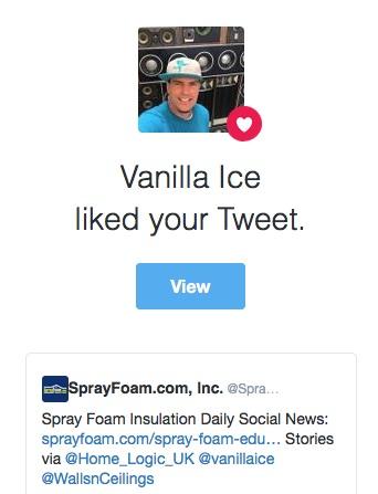Vanilla Ice liked SprayFoam.com