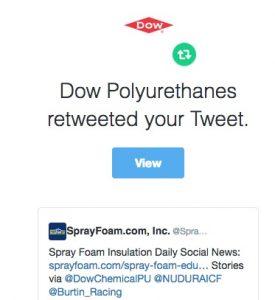 Dow Polyurethanes retweeted SprayFoam.com