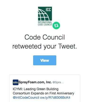 International Code Council retweeted SprayFoam.com